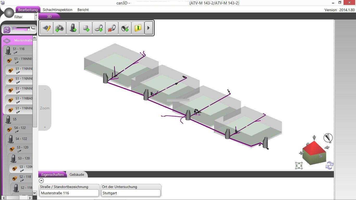 3D-Lageplan
